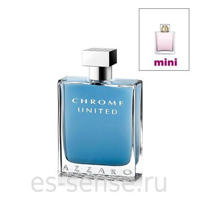 AZZARO CHROME UNITED men 7.5ml edt mini